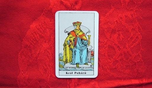 KALICHOVÝ KRÁL (VZDUCH VODY - ŠTÍR) - Tarot