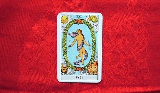 XXI - SVĚT (Tav = Saturn) - Tarot