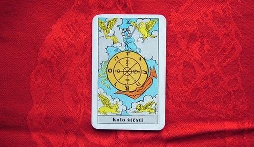 X - KOLO ŠTĚSTÍ (Kaf = Jupiter) - Tarot