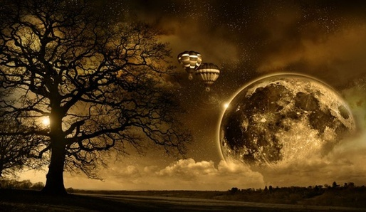 Noční krajina.